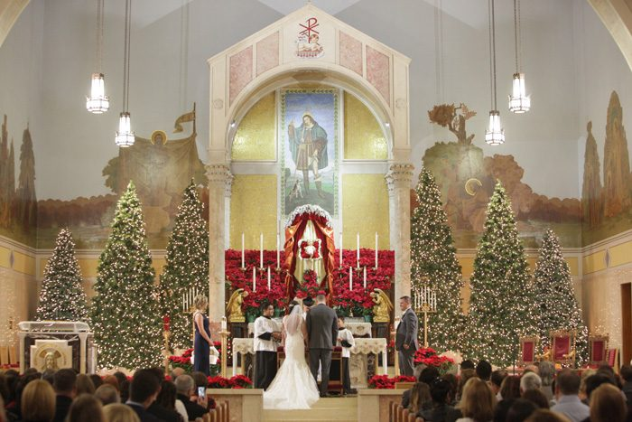 Christmas Wedding | Riverfront Photography | As Seen on TodaysBride.com